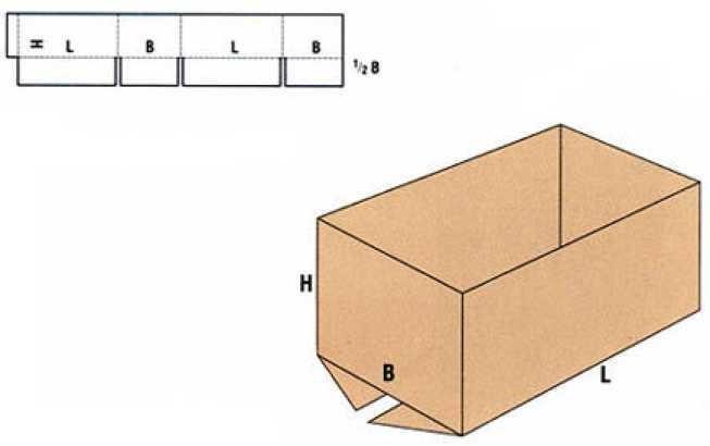 Коробка Fefco 0200